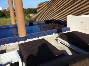 Serenity at our private pool