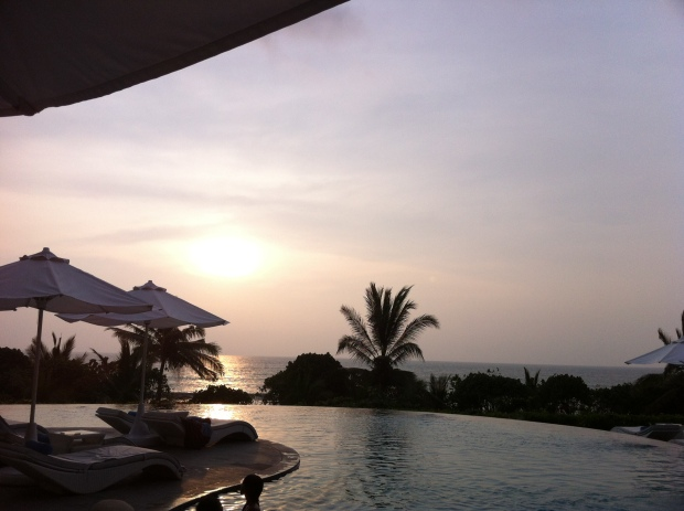 Sunset at the pool - Sheraton Kuta Bali