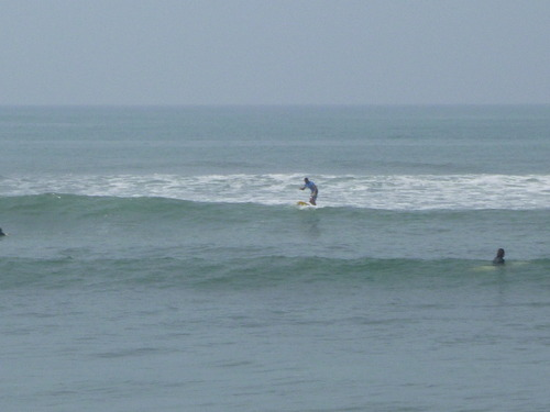 my brother catching a wave in Canggu