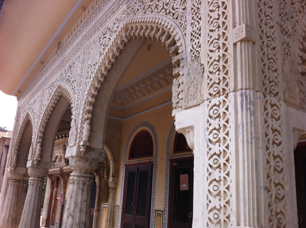 ornate architecture in City Palace