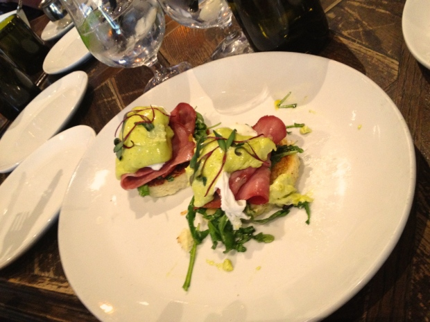 eggs benedict special at Siena Tavern