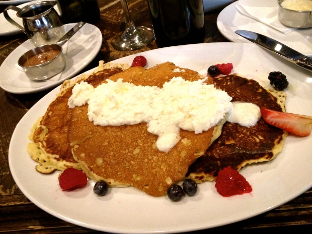 almond pancakes at Siena Tavern