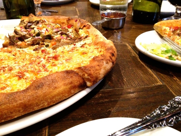 yummy pizza and brussels at Siena Tavern