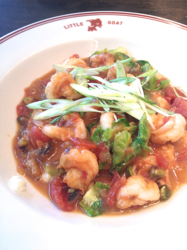 shrimp and grits at Little Goat