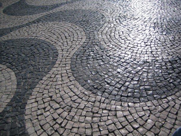 limestone streets of Lisboa