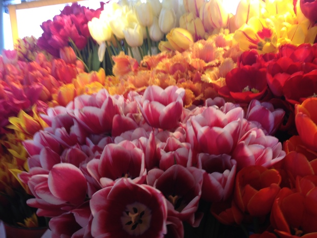 fresh flowers at pike place market