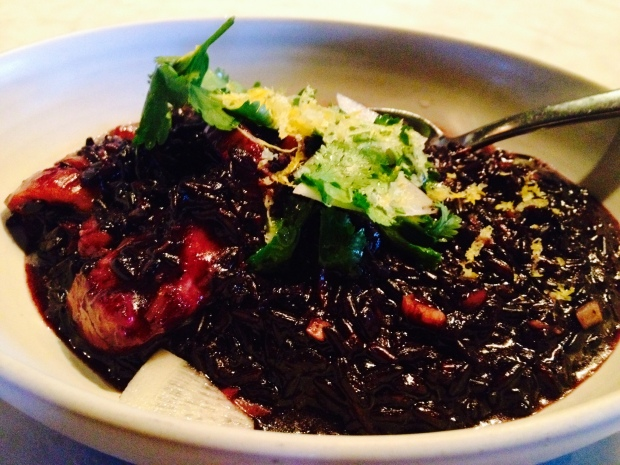 Black rice with Bacalau at Joule