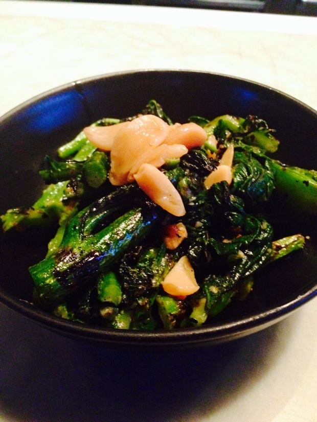 grilled chinese broccoli at Joule