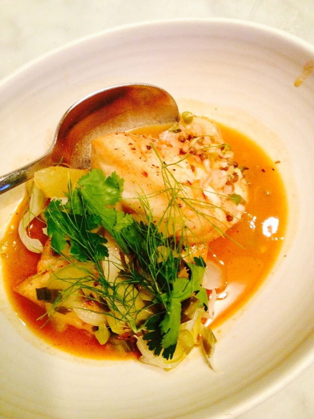Halibut curry at Joule