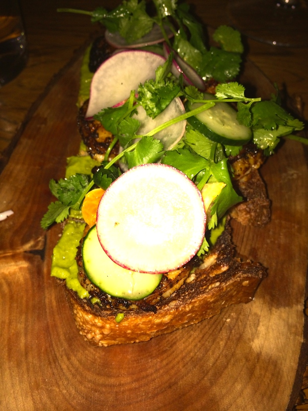 shrimp toast at Juniper and Ivy - photo credit: Evita Singh