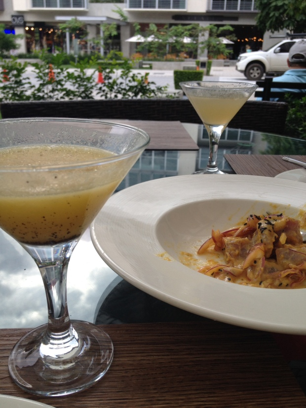 pisco sours and thai ceviche