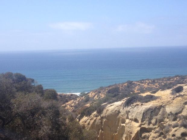 coastal views along the hike