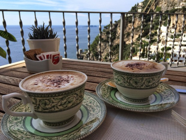 Starting off the day in Positano