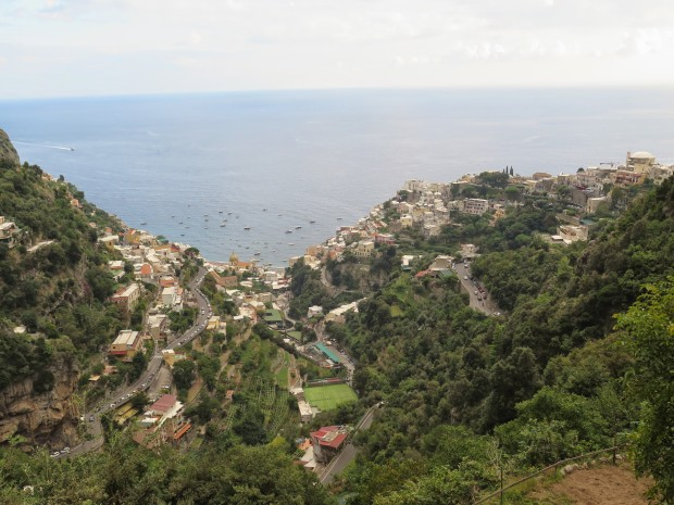 A view of Positano from Nocelle