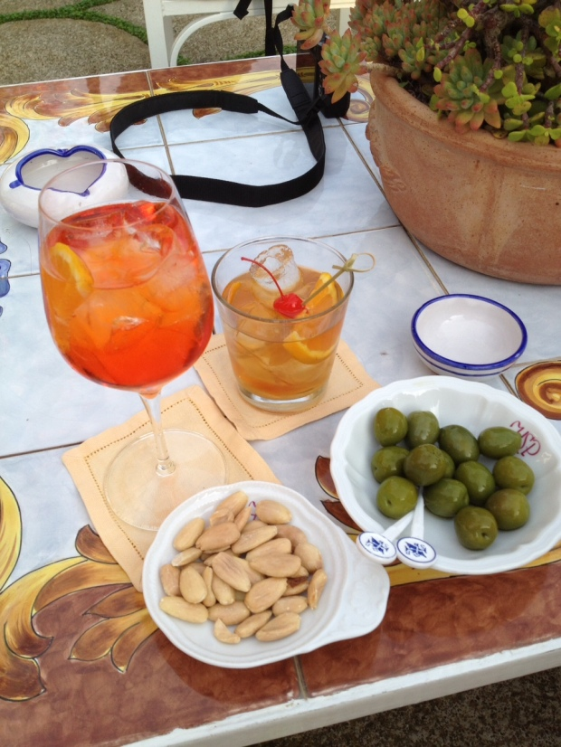 afternoon cocktails at San Pietro